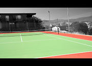 Tennis court shot